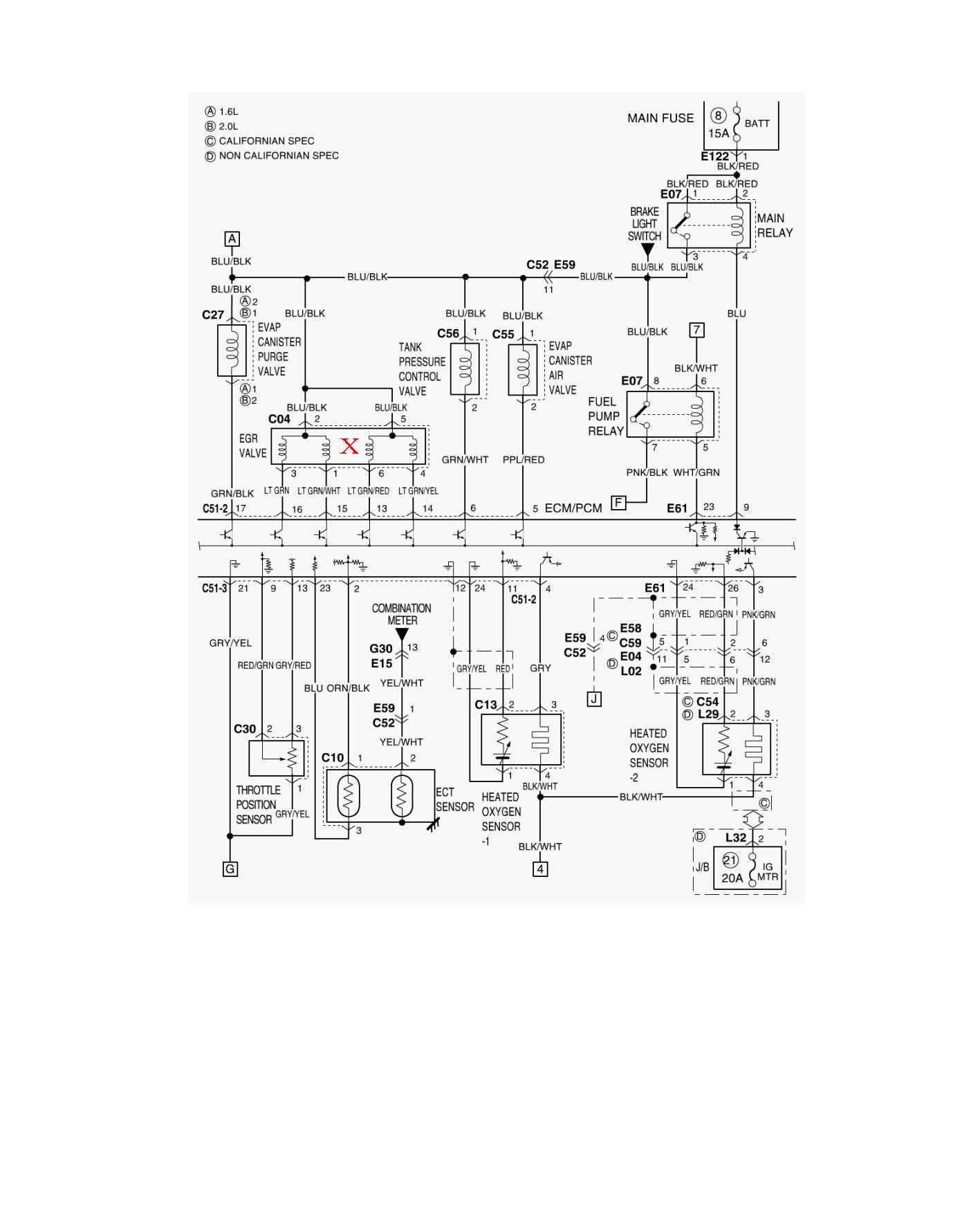 94 Geo Tracker Fuse Box Diagram
