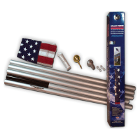 20' Residential Aluminum Flagpole with Flag