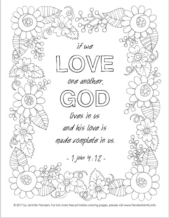 John 3 16 Valentine Coloring Page