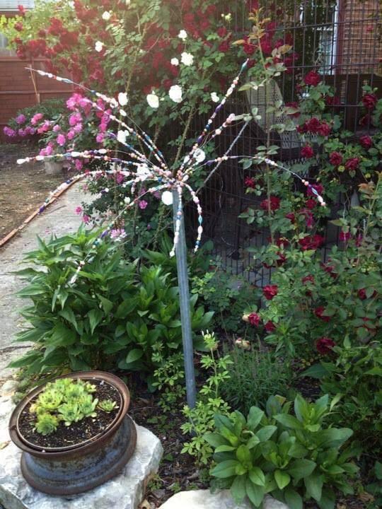 Glittering Beaded Garden Sparklers Flea Market Gardening
