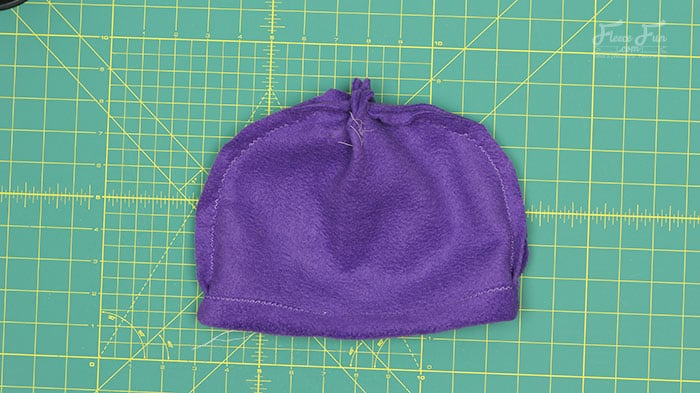 step 4 - make the brim to the fleece hat