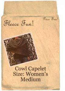 cowl capelet medium