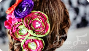 how to make a satin flower