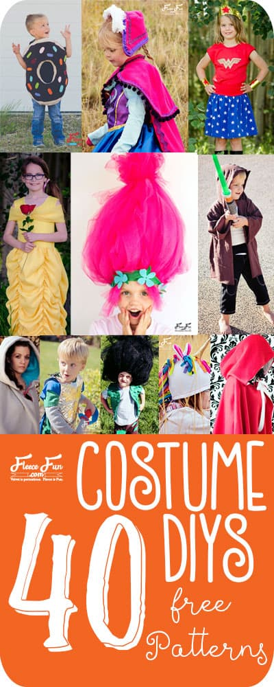 I love this collection of costume tutorials. There is something for everyone! Great costume ideas DIY. There are costumes for kids and adults and some amazing cape patterns.