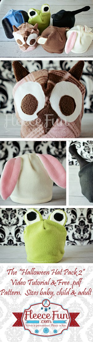 I love this collection of easy to sew fleece hats.  This free pattern diy is a great idea for winter for kids.