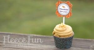 thankful printables cupcake