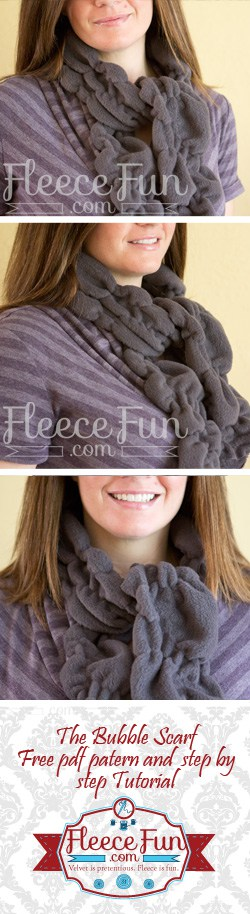 What an easy fleece scarf to make.  Great DIy idea.