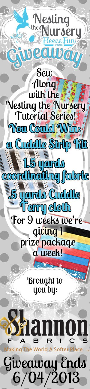 Cuddle strip Nesting the nursery giveaway book mark