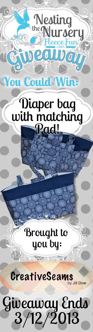 Nesting the nursery giveaway diaper bag