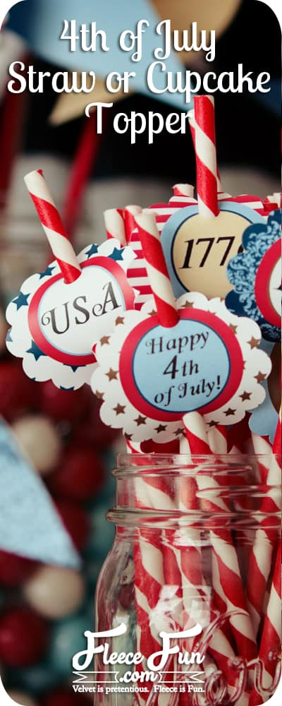 free 4th of july printable straw topper