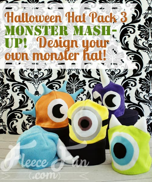 I love these easy to make free monster hat patterns.  You can design any monster you can imagine.  Great Sewing DIY idea for winter and dress up.