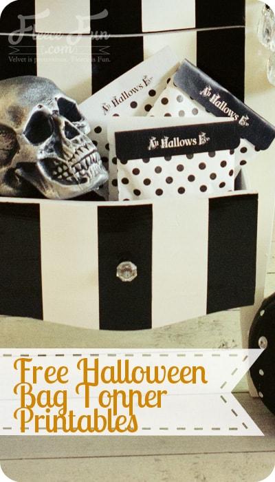 I love this free Halloween printable bag topper.