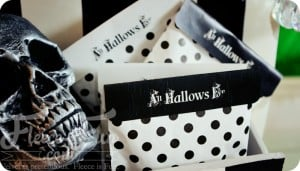 free halloween printable bag topper feature