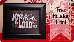 joy to the world printable feature