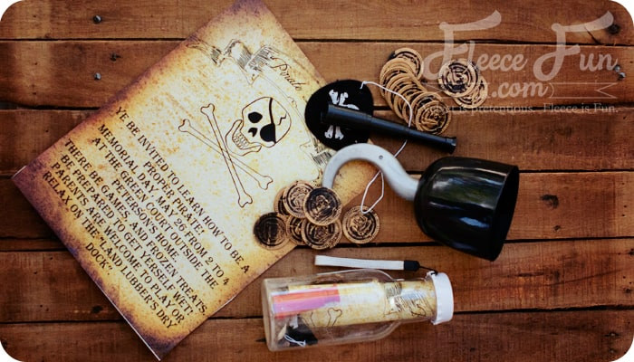 Pirate party invitation printable feature