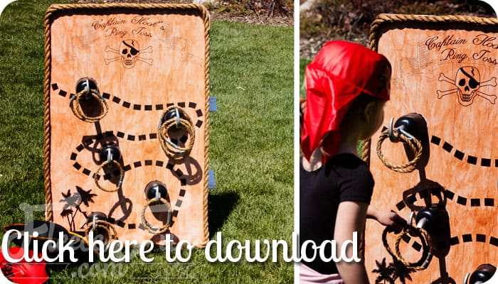This Easy Pirate Party game is fun for kids and adults!. Step by Step tutorial plus a free jumbo printable to make putting it together a breeze.