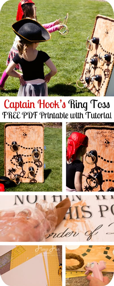 Pirate Party Game: Captain Hook's Ring Toss – Free Printable