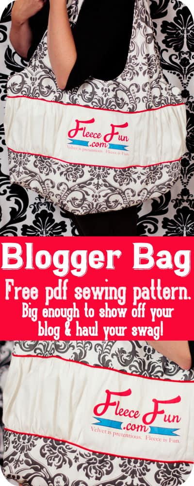 How to make a conference tote or a blogger bag