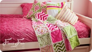 how to make a rag quilt tutoiral