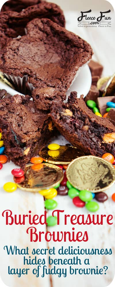 What treasure would you bury in your brownie? I think mini kit kats would be so yummy! Love!