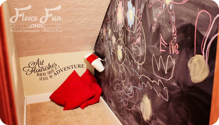 how to paint a chalkboard wall final result