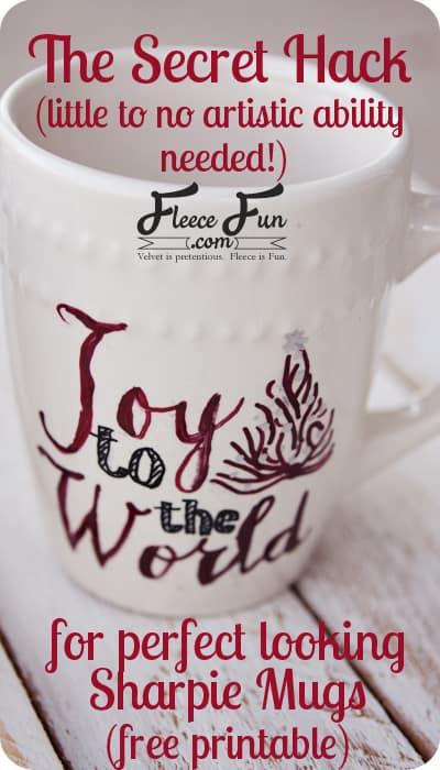 easy sharpie mug design