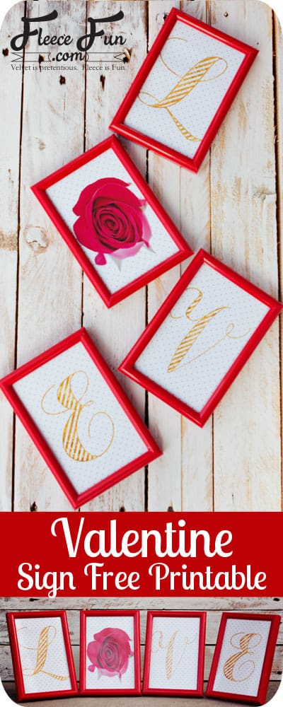 This sign is fast and easy and really inexpensive to make! Just use dollar store frames with this free printable - love!