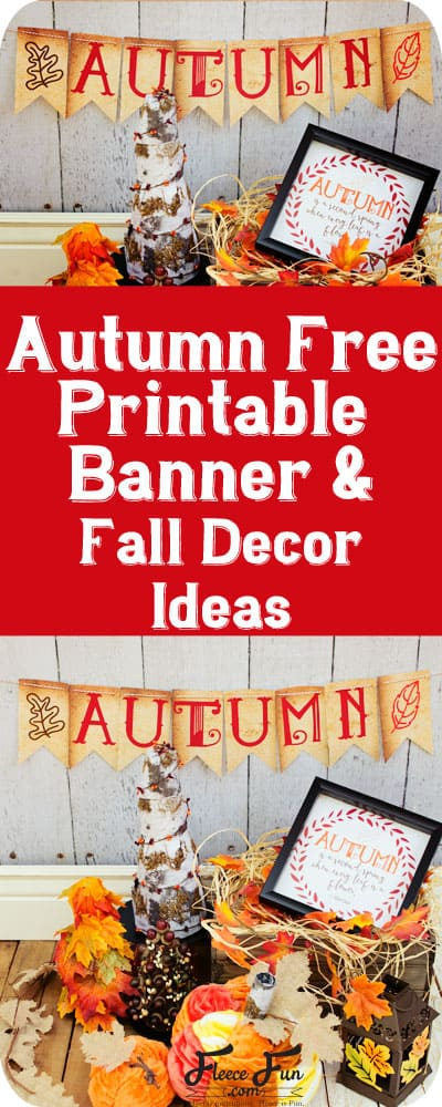 I love this free fall printable banner.  It's perfect for adding some DIY decor for autumn in my house.  Great idea.