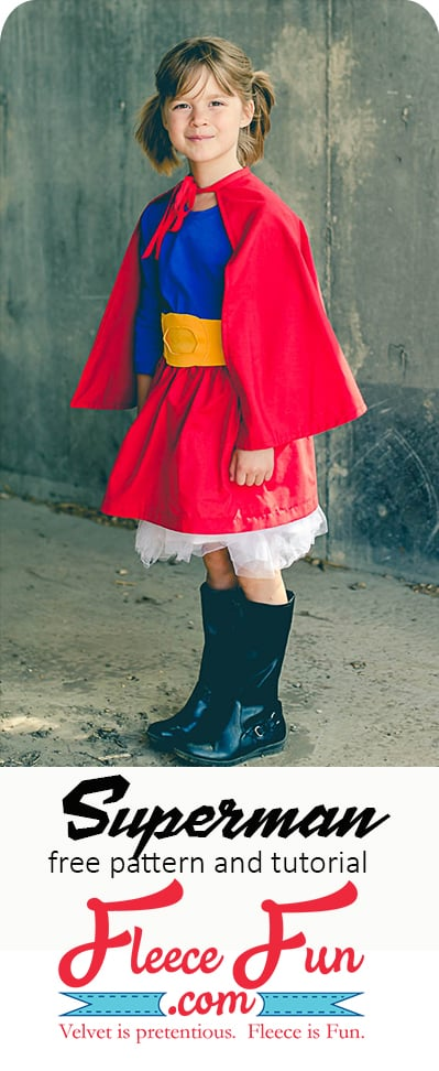 I love this supergirl costume!.  This Halloween costume DIY tutorial is a great idea for your little super hero!