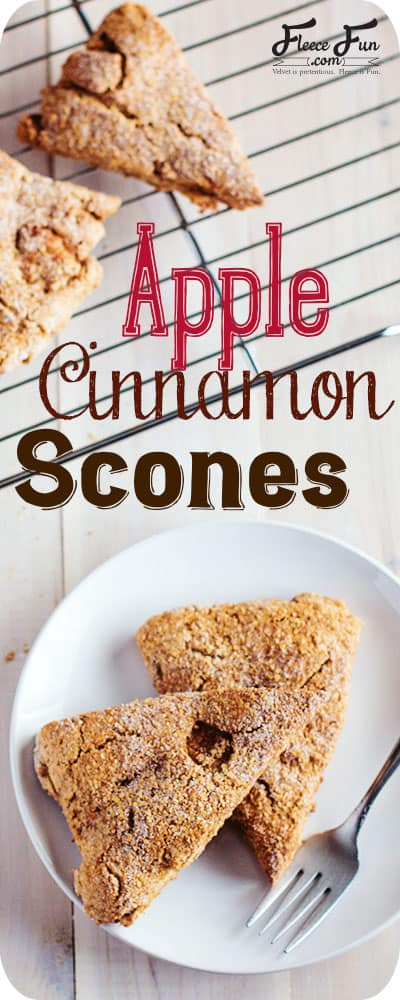 I love the idea of warm scones on a cool fall morning.  These apple cinnamon scones look really easy to make.