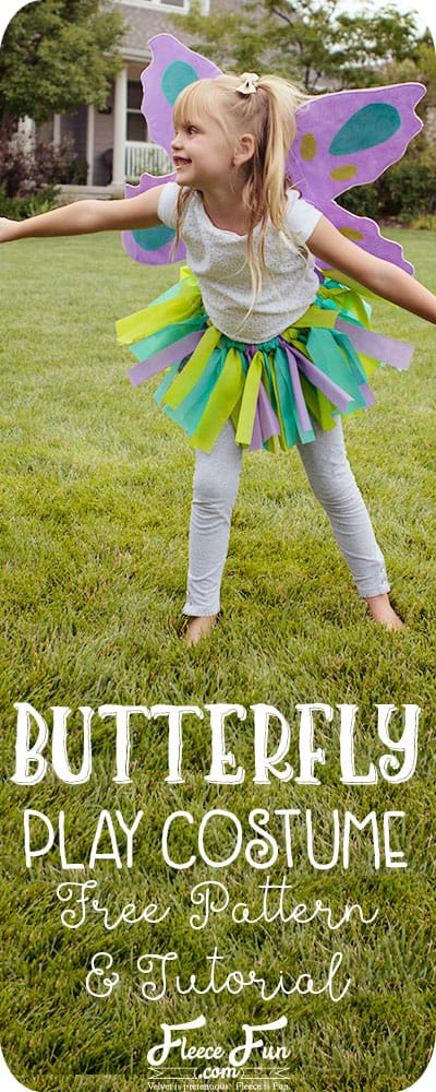 I love this easy to sew butterfly costume. It works for Halloween or dress up. I like how it comes with a nice pdf patterns too. Great DIY little girl costume idea.