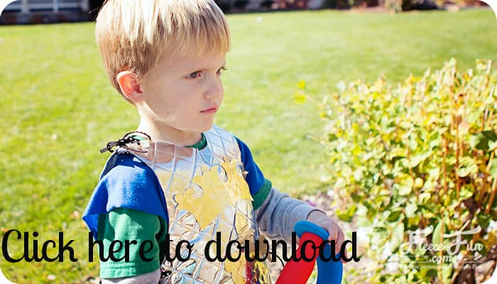 no sew knight costume DIY downloadable pattern or template