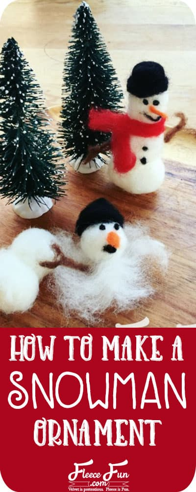I love this how to make a snowman ornament tutorial. It looks easy and fun to make!