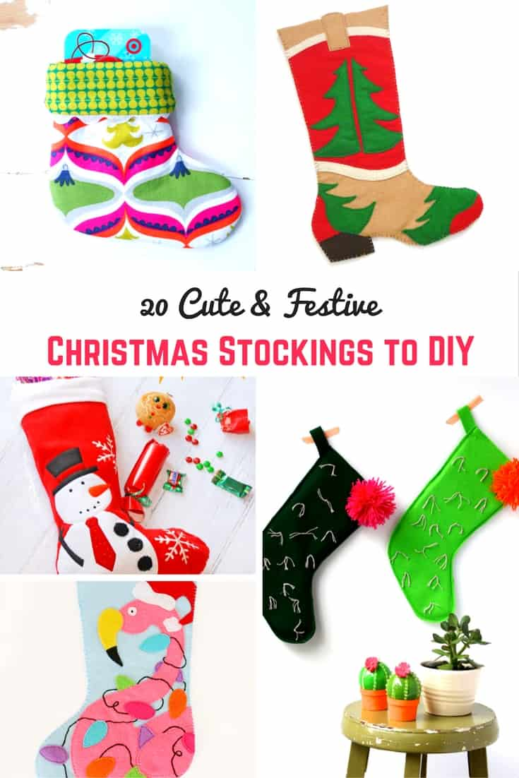 I love this collection of DIY Christmas stockings.  They look gun to make.  Great DIY idea.