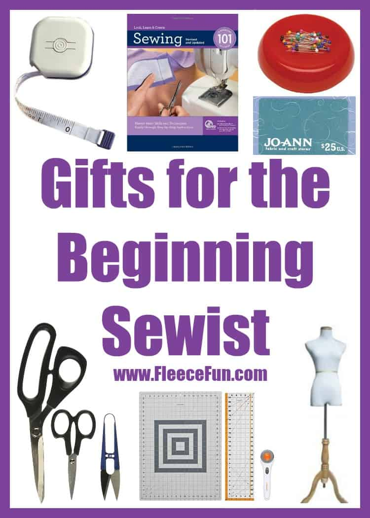 I love these ideas to get a sewist started.  Great gift ideas to give them to encourage them to keep learning!