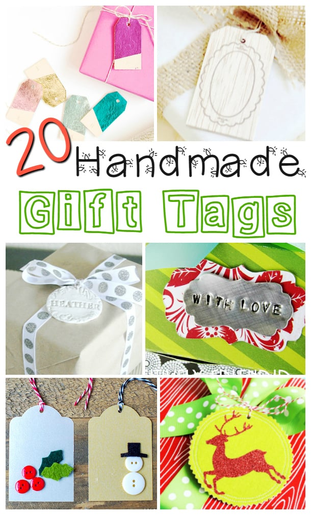 I  love this collection of handmade gift tags for Christmas.