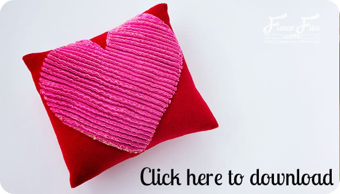 You can learn how to make a chenille heart pillow with this easy sewing tutorial. Great Valentine's DIY idea.