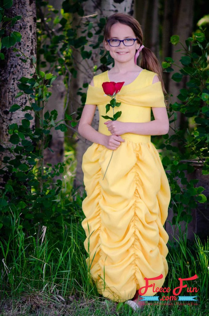 This easy to make Belle Costume is fast and perfect for you little one. Beginner friendly it's perfect for Halloween. Great Sewing Project DIY. Belle Costume Tutorial Beauty and the Beast costume idea diy