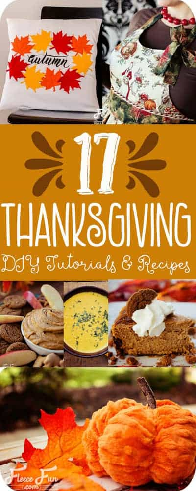 I love this collection of Thanksgiving ideas.  So many great holiday DIY and recipes for Thanksgiving day!