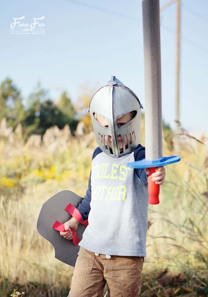 Learn How to Make a Knight Helmet (free template file) with this easy to follow tutorial. This costume idea DIY is perfect for little boys and dress up. I love how this DIY and Crafts has a free template too to make it easy.