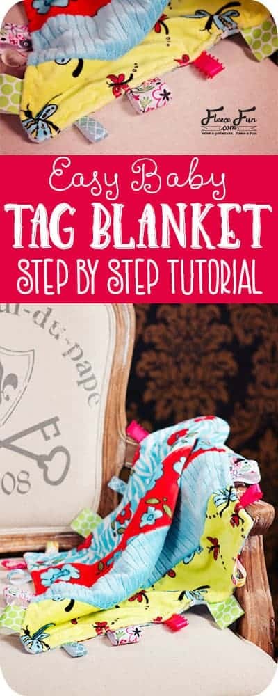 I love this taggie baby blanket tutorial.  Looks easy to sew and a great DIY gift idea.