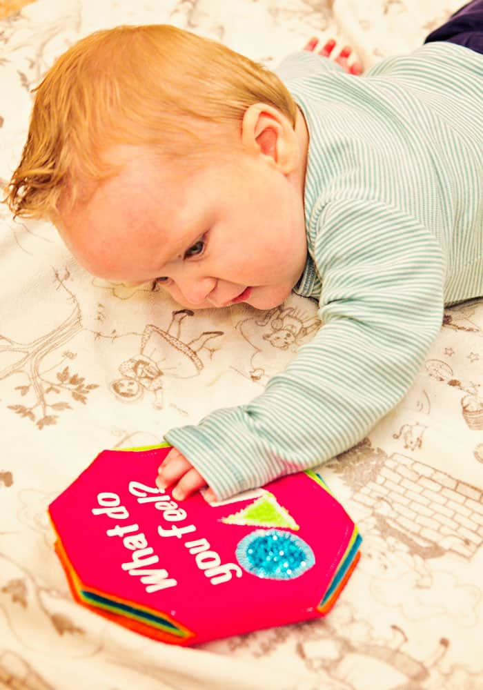 This easy to follow Softie Book Baby Toy Tutorial makes a wonderful handmade gift for baby! With clear step by step instructions and a Free Design Space File, you can make this cute baby toy and personalize it for your little one.