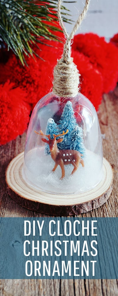 This DIY Cloche Ornament is shatterproof, and a wonderful addition to Homemade Christmas Ornaments. With a few basic materials you can make several variations of this ornament. Perfect for your tree or a hostess gift. #treedecorations #holidaycrafts #handmadeornaments  #christmasbaubles #christmascraft #christmasdiy #christmasornament #christmasornaments #christmasdecoration #christmasdecorations #handmadechristmasdecoration #xmasdecoration #xmascrafts