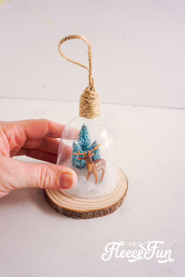 This DIY Cloche Ornament is shatterproof, and a wonderful addition to Homemade Christmas Ornaments.You can make several variations of this easy ornament.
