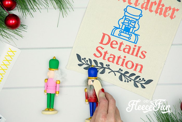 This Nutcracker Ornament DIY is easy and fun for all ages. Set up is perfect for a party and everyone can let their creativity shine with this tutorial!