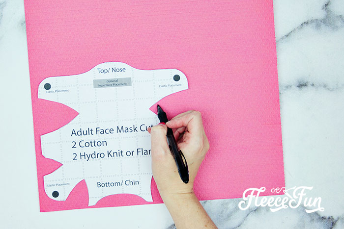 Free Pattern: Fitted Face Mask DIY (Sizes Child to Adult) is a tutorial to show you how to make a facial covering to help slow the spread of germs.