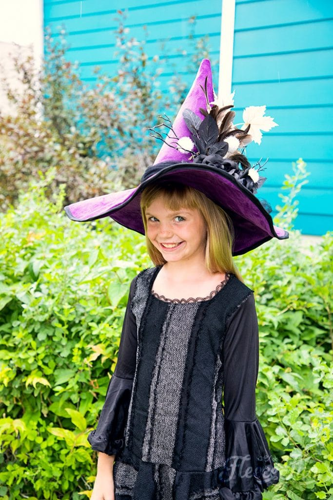 Learn how to make a witch hat with this free pdf pattern and step by step tutorial. This couture style hat is sure to be a favorite year after year.