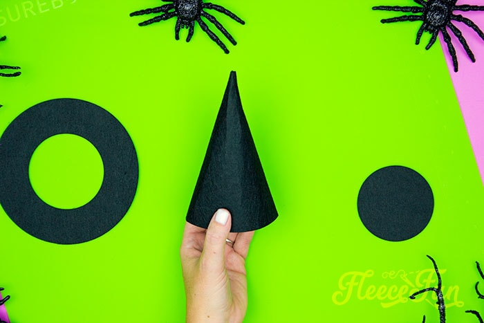 finished cone. This DIY Mini Witch Hat is no sew and comes with a free PDF pattern and SVG template to make it a breeze! 3 mini sizes so you can make the perfect hat!