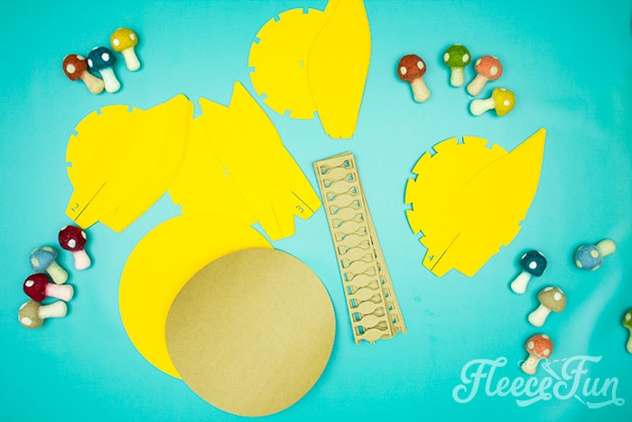 All the tiems needed. This Giant Paper Sunflower DIY (FREE SVG files) is perfect for fall! Make a Giant flower wall or use it to decorate your space! So many possibilities!