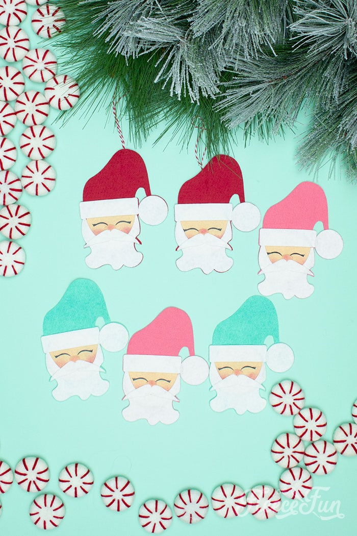 With a Free Ornament Template you can make this adorable felt Santa! This homemade ornament is no sew and makes for a wonderful gift.
